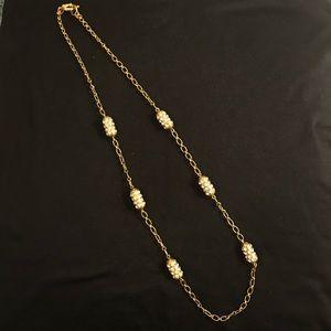 J. Crew Crystal Bar Necklace